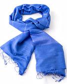 Blue scarf or pashmina — Stock Photo