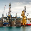 Stock Photo: Cranes in docks, Malta