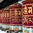 Buddhist prayer wheels — Stock Photo
