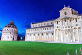 Piazza dei miracoli, with Basilica, Pisa, Italy — Stock Photo