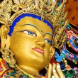 Buddha maitreya statue  close up in a monastery — Stock Photo