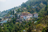 Darjeeling Town from the Top of Mountain, India — Stock Photo