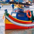 Colored fishing boat, Malta — Stock Photo