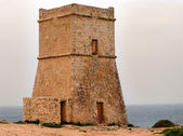 Malta watch tower — Stock Photo