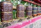 Prayer wheel in Sikkim. The Indian Himalayas — Stock Photo
