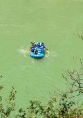 Rafting boat at river Gang near Rishikesh — Stock Photo
