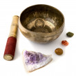 Tibetian singing bowl isolated on white — Stock Photo