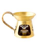 Aromatherapy burner isolated on white background — Stock Photo