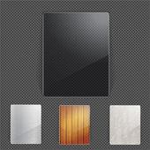 Set of natural frames — Stock Vector