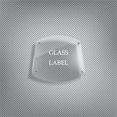 Glass label — Stock vektor