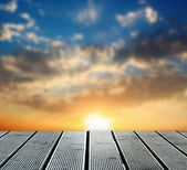 Walkway on sunset — Stock Photo