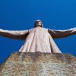 Tibidabo staue — Stock Photo