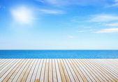 Pier near sea — Stock Photo