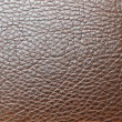 Brown leather texture closeup, useful as background — Stock Photo