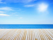 Pier near sea — Stock Photo