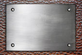 Metal plate sign — Stock Photo