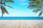 Tropical beach view — Stock Photo