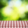 Table cloth on table — Stock Photo