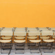 Chairs on stage — Stock Photo