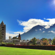 Aosta village — Stock Photo