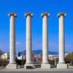 Columns at Placa de Espanya — Stock Photo