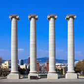 Columns at Placa de Espanya — Stock Photo