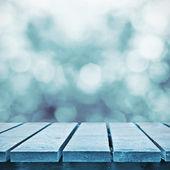Zimą mrożony tabeli — Zdjęcie stockowe