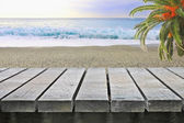 Tabela, w pobliżu oceanu — Zdjęcie stockowe