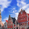 Stock Photo: House of Blackheads in Riga
