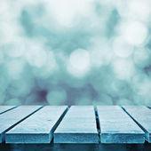 зимой замороженные таблицы — Стоковое фото