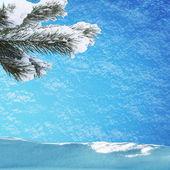 Passen tre in sneeuw — Stockfoto