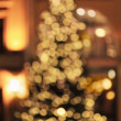 Stock Photo: Christmas tree bokeh background