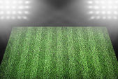 Football field in spotlights — Stockfoto