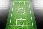 Green football field — Stock Photo