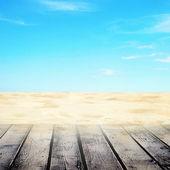 Empty sandy beach — Stock Photo