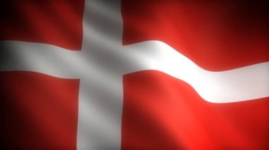 Flag of Denmark (seamless) — Stock Video