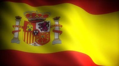 Flag of Spain (seamless) — Stock Video