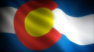 Flag of Colorado — Stock Video