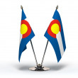 Miniature Flag of Colorado (Isolated) — Stock Photo