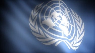Flag of United Nations — Stockvideo