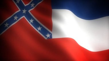 Flag of Mississippi — Stock Video