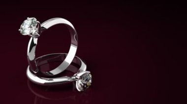 Diamond Rings — Stock Video