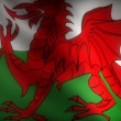 Stock Video: Flag of Wales