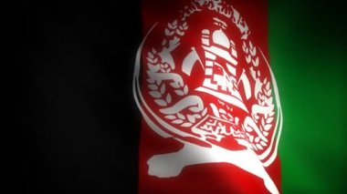 Flag of Afghanistan — Stock Video
