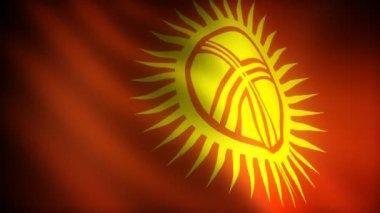 Флаг Кыргызстана — Стоковое видео