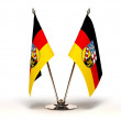 Stock Photo: Miniature Flag of Saarland