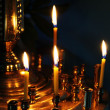 Votive Candle in a Church — Stock Photo
