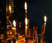 Votive Candle in a Church — 图库照片