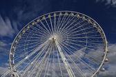 Ferris wheel on a blue sky as a background, Marseille France — Stock Photo