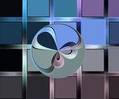 Hintergrund der bunten quadrate mit runde form — Stockfoto